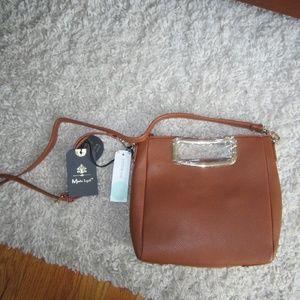 Suede Brown Crossbody Bag